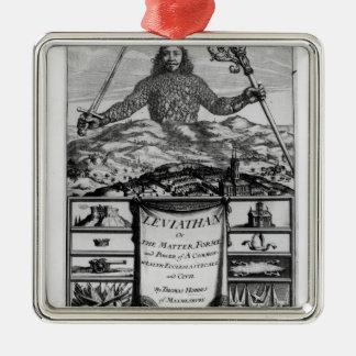 Frontispiece by Thomas Hobbes  of Malmesbury Metal Ornament