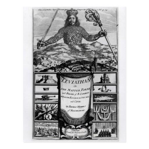 Frontispiece by Thomas Hobbes  of Malmesbury Postcard