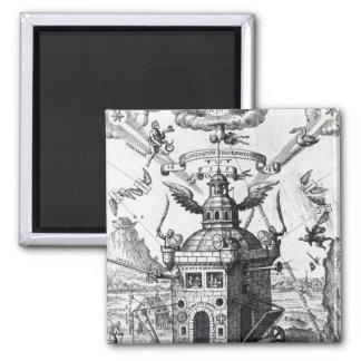Frontispiece 'Collegium Fama Fraternitatis' 2 Inch Square Magnet