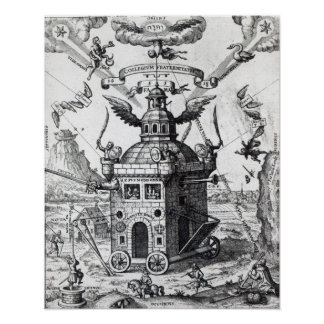 Frontispiece 'Collegium Fama Fraternitatis' Poster