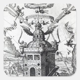 Frontispiece 'Collegium Fama Fraternitatis' Square Sticker