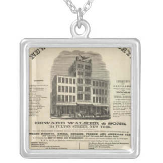 Frontispiece Colton's American Atlas Square Pendant Necklace