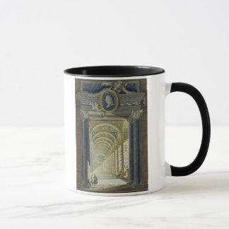 Frontispiece con un retrato del medallón de taza