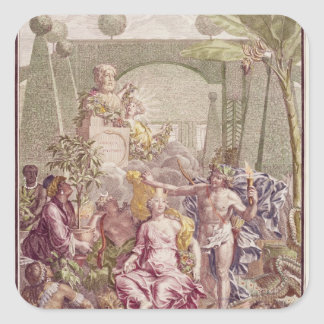 """Frontispiece de """"Hortus Cliffortianus"""" por Carl Pegatina Cuadrada"""