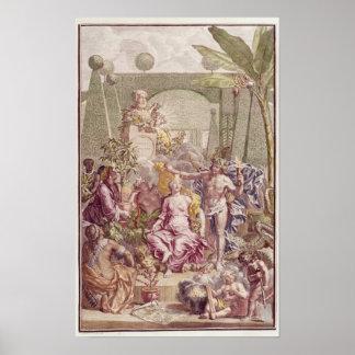 """Frontispiece de """"Hortus Cliffortianus"""" por Carl Póster"""