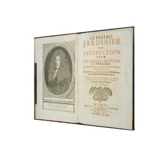 Frontispiece de la página y del retrato de título  impresion de lienzo