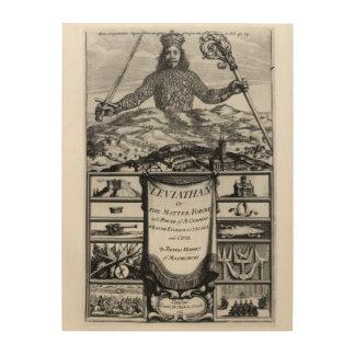 Frontispiece de Thomas Hobbes de Malmesbury Cuadros De Madera