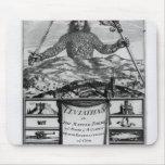 Frontispiece de Thomas Hobbes de Malmesbury Alfombrilla De Ratón