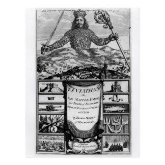 Frontispiece de Thomas Hobbes de Malmesbury Tarjeta Postal