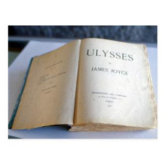 """Frontispiece de """"Ulises"""" por James Joyce Postal"""