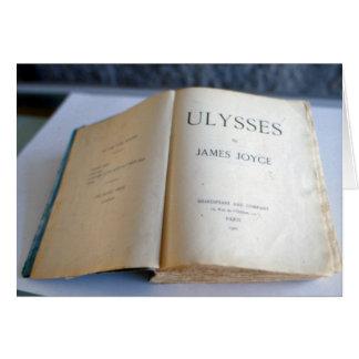 """Frontispiece de """"Ulises"""" por James Joyce Tarjeta De Felicitación"""
