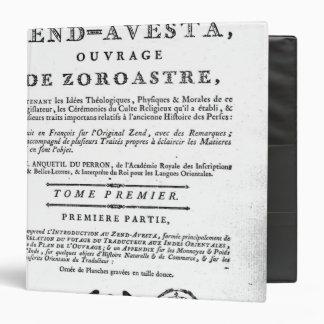 Frontispiece de una edición de Zend