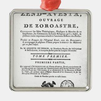 Frontispiece de una edición de Zend Adorno Para Reyes