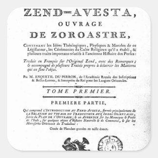 Frontispiece de una edición de Zend Calcomania Cuadrada Personalizada