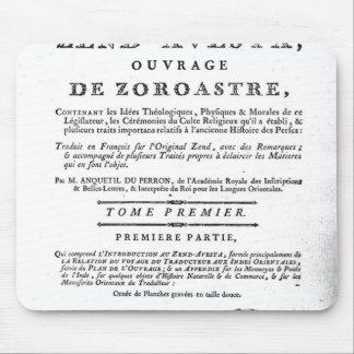 Frontispiece de una edición de Zend Tapete De Ratones
