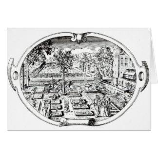 """Frontispiece, """"del Herball"""", por Juan Gerard ( Tarjeta De Felicitación"""