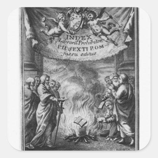 Frontispiece del 'índice Librorum Prohibitorum Pegatina Cuadradas