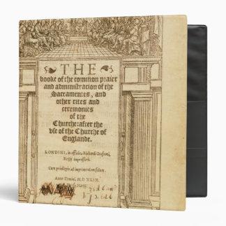 Frontispiece 'del libro de Prayer común