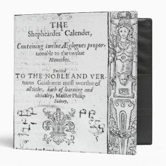 """Frontispiece 'del Shepeards Calendar Carpeta 1 1/2"""""""