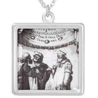 Frontispiece 'Dialogo sopra I due massimi�' Square Pendant Necklace
