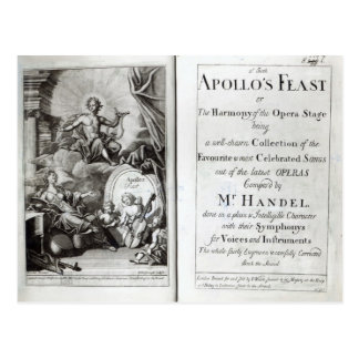 Frontispiece for Apollo s Feast c 1734 Post Card