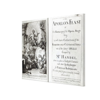 Frontispiece for Apollo's Feast, c.1734 Canvas Prints