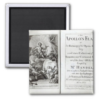 Frontispiece for Apollo's Feast, c.1734 Fridge Magnet