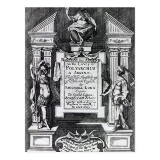 Frontispiece for 'Argenis' by John Barclay Postcard