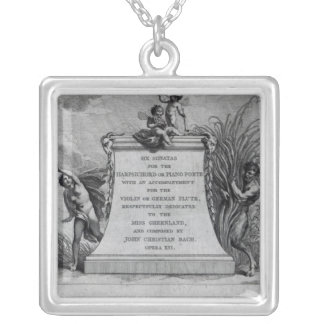 Frontispiece for six sonatas by John Silver Plated Necklace