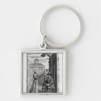 Frontispiece for the First Edition Silver-Colored Square Keychain