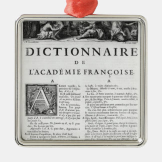 Frontispiece for the French Academy dictionary Metal Ornament