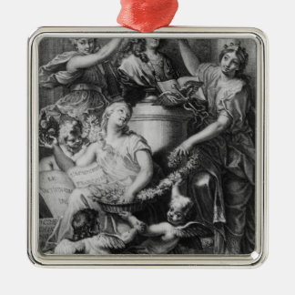 Frontispiece 'French Academy Dictionary' Metal Ornament