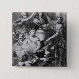 Frontispiece 'French Academy Dictionary' Pinback Button