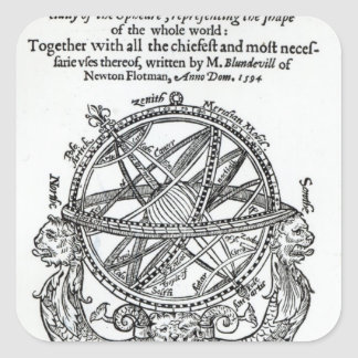 Frontispiece from 'A Plain Treatise �' Square Sticker