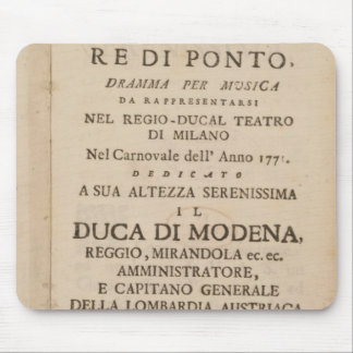 Frontispiece from an early copy mouse pad