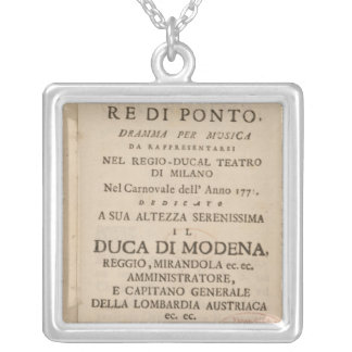 Frontispiece from an early copy silver plated necklace