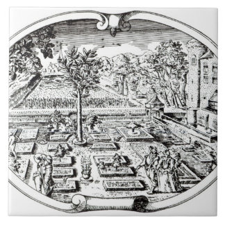 Frontispiece, from 'The Herball', by John Gerard ( Large Square Tile