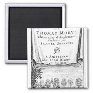 Frontispiece, 'la Utopía de Thomas More Imán Cuadrado