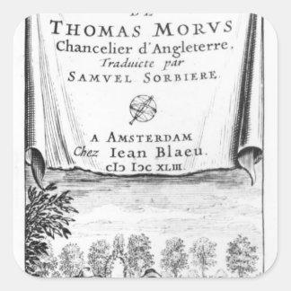 Frontispiece, 'la Utopía de Thomas More Colcomania Cuadrada