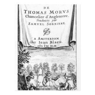 Frontispiece, 'la Utopía de Thomas More Postal