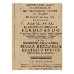 Frontispiece Lucio Silla de Mozart de ' Tarjetas Postales
