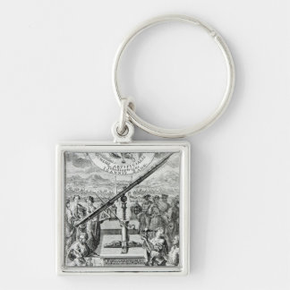 Frontispiece 'Oculus Artificialis Silver-Colored Square Keychain