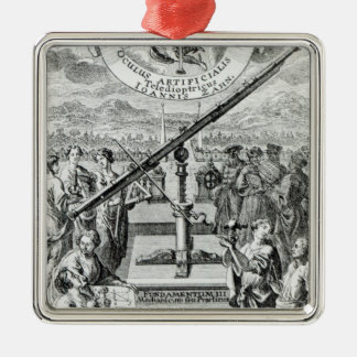 Frontispiece 'Oculus Artificialis Square Metal Christmas Ornament