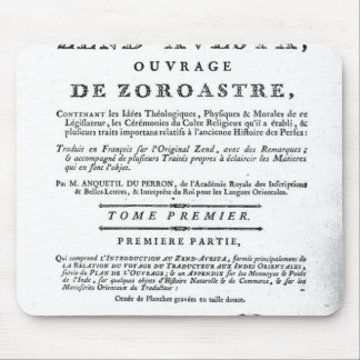 Frontispiece of an edition of the 'Zend Mouse Pad