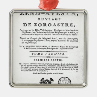 Frontispiece of an edition of the 'Zend Christmas Ornaments