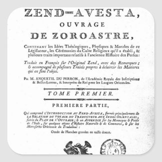 Frontispiece of an edition of the 'Zend Square Sticker