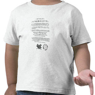 Frontispiece of an edition of the 'Zend T-shirt