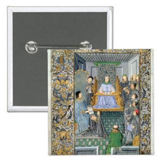 Frontispiece of Antonio de Nebrija's  'Gramatica' 2 Inch Square Button