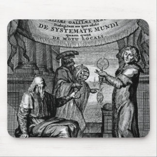 Frontispiece of Dialogus De Systemate Mundi Mousepads