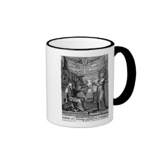 Frontispiece of 'Dialogus De Systemate Mundi' Ringer Mug